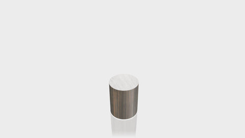 CYLINDRICAL - Bronzed Steel Base + Brushed Aluminum Top