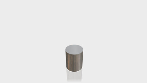 CYLINDRICAL - Bronzed Steel Base + Mouse Grey Top