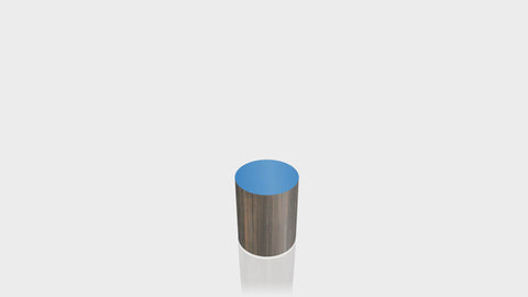 CYLINDRICAL - Bronzed Steel Base + Spectrum Blue Top