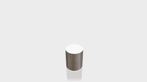 CYLINDRICAL - Bronzed Steel Base + White Top