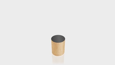 CYLINDRICAL - Butcherblock Maple Base + Black Top