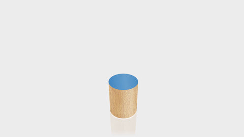 CYLINDRICAL - Butcherblock Maple Base + Spectrum Blue Top