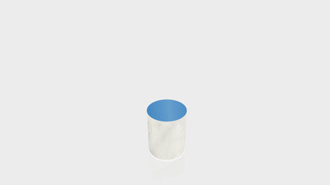 CYLINDRICAL - Carrara Bianco Base + Spectrum Blue Top