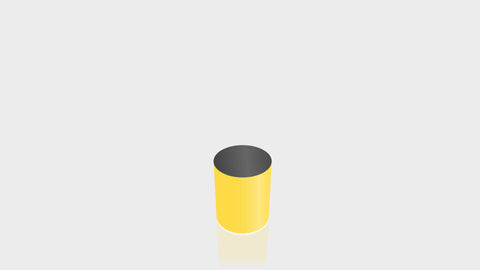 CYLINDRICAL - Chrome Yellow Base + Black Top