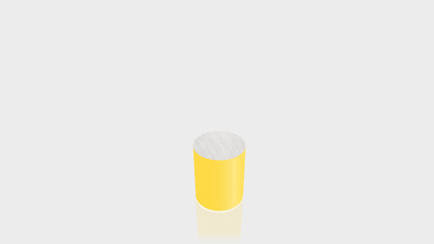 CYLINDRICAL - Chrome Yellow Base + Brushed Aluminum Top
