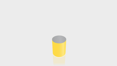 CYLINDRICAL - Chrome Yellow Base + Mouse Grey Top