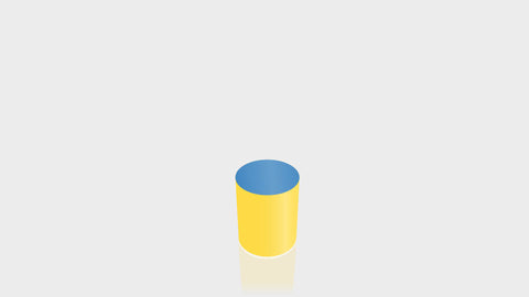 CYLINDRICAL - Chrome Yellow Base + Spectrum Blue Top