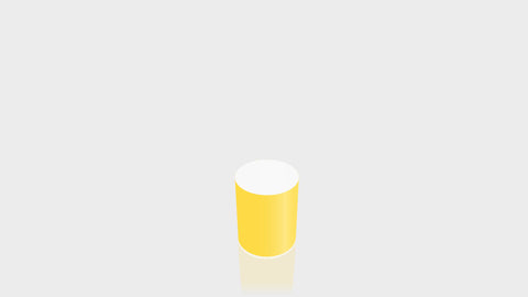 CYLINDRICAL - Chrome Yellow Base + White Top
