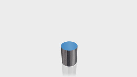 CYLINDRICAL - Ebony Ribbonwood Base + Spectrum Blue Top