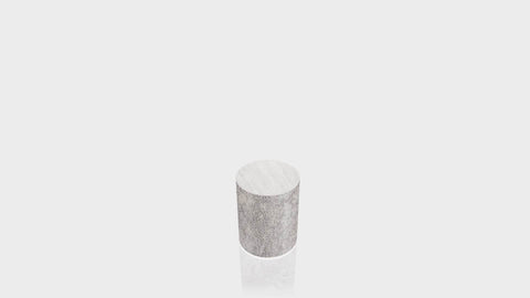 CYLINDRICAL - Elemental Concrete Base + Brushed Aluminum Top