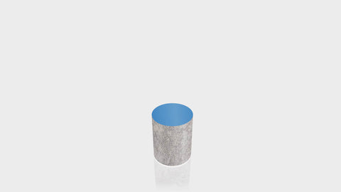 CYLINDRICAL - Elemental Concrete Base + Spectrum Blue Top