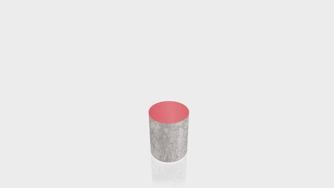 CYLINDRICAL - Elemental Concrete Base + Spectrum Red Top