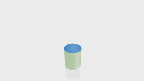 CYLINDRICAL - Enamel Base + Spectrum Blue Top