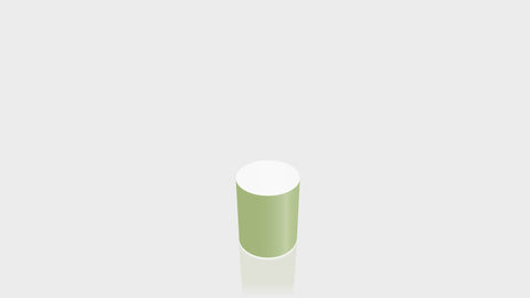 CYLINDRICAL - Leaf Green Base + White Top
