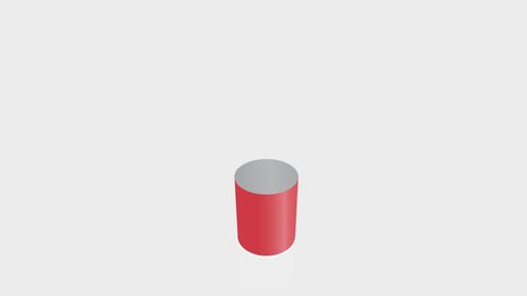 CYLINDRICAL - Spectrum Red Base + Mouse Grey Top