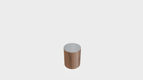 CYLINDRICAL - Thermo Walnut Base + Mouse Grey Top