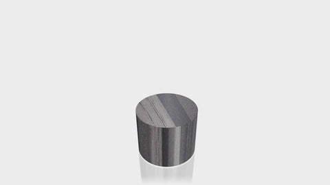CYLINDRICAL - Ebony Ribbonwood Base + Ebony Ribbonwood Top - 18x18