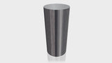 CYLINDRICAL - Ebony Ribbonwood Base + Mouse Grey Top