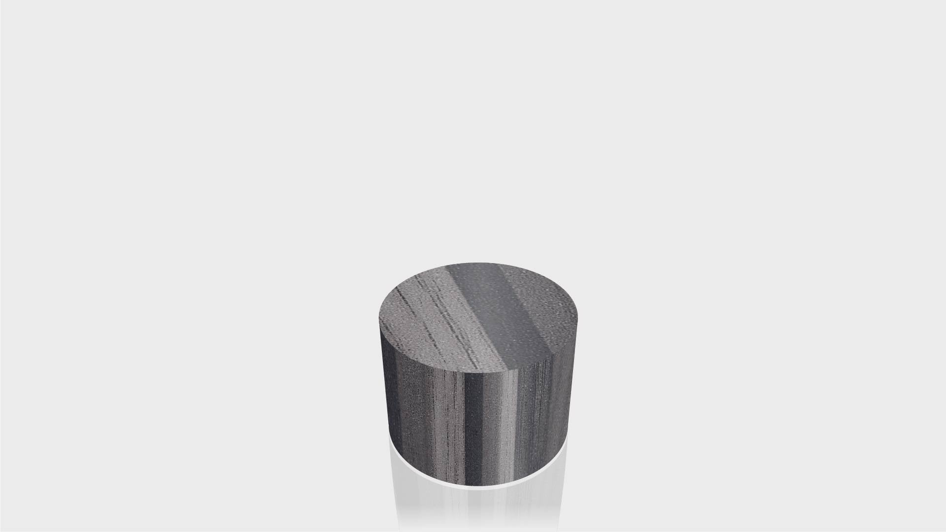 CYLINDRICAL - Ebony Ribbonwood Base + Ebony Ribbonwood Top - 23x23
