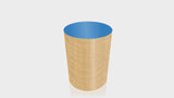 CYLINDRICAL - African Limba Base + Spectrum Blue Top