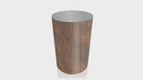 CYLINDRICAL - Black Walnut Base + Mouse Grey Top