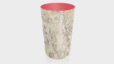 CYLINDRICAL - Belmonte Granite Base + Spectrum Red Top