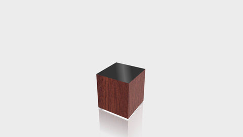 RECTANGLE - Acajou Mahogany Base + Black Top