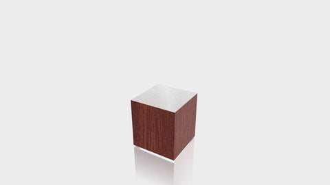 RECTANGLE - Acajou Mahogany Base + Brushed Aluminum Top