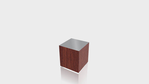 RECTANGLE - Acajou Mahogany Base + Mouse Grey Top