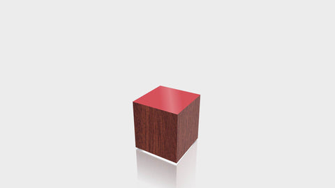 RECTANGLE - Acajou Mahogany Base + Spectrum Red Top