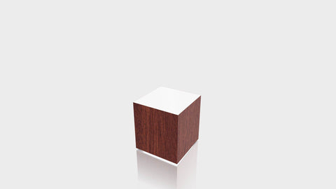 RECTANGLE - Acajou Mahogany Base + White Top