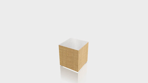 RECTANGLE - African Limba Base + Brushed Aluminum Top