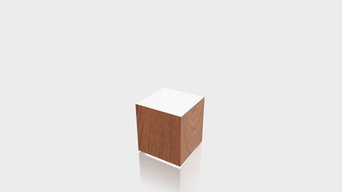 RECTANGLE - Blossom Cherrywood Base + White Top
