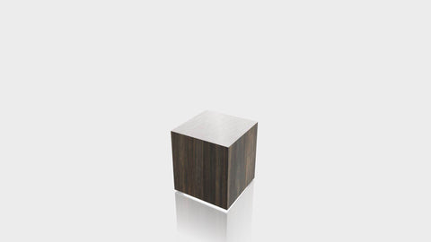 RECTANGLE - Bronzed Steel Base + Brushed Aluminum Top