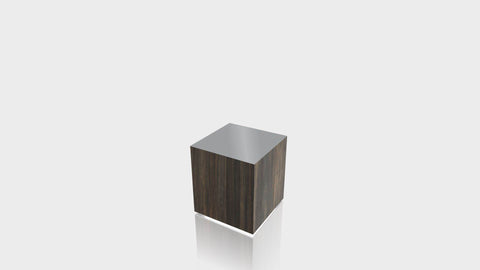 RECTANGLE - Bronzed Steel Base + Mouse Grey Top