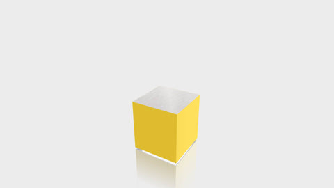 RECTANGLE - Chrome Yellow Base + Brushed Aluminum Top