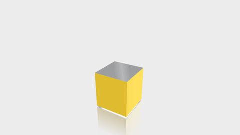 RECTANGLE - Chrome Yellow Base + Mouse Grey Top