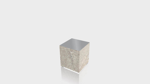 RECTANGLE - Concrete Stone Base + Mouse Grey Top