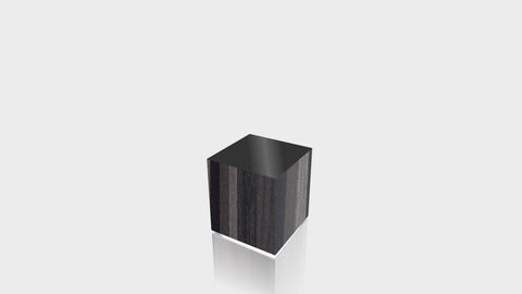RECTANGLE - Ebony Ribbonwood Base + Black Top