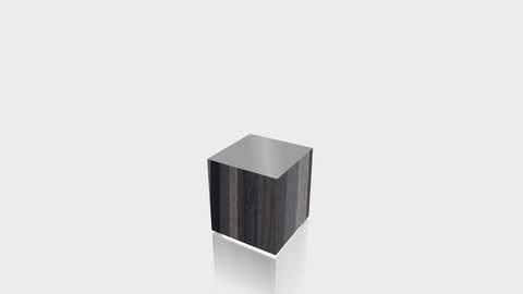 RECTANGLE - Ebony Ribbonwood Base + Mouse Grey Top