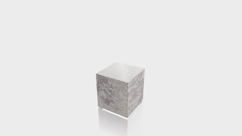 RECTANGLE - Elemental Concrete Base + Brushed Aluminum Top