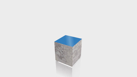 RECTANGLE - Elemental Concrete Base + Spectrum Blue Top