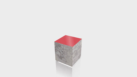 RECTANGLE - Elemental Concrete Base + Spectrum Red Top