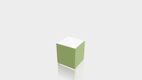 RECTANGLE - Leaf Green Base + White Top