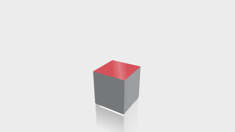 RECTANGLE - Mouse Grey Base + Spectrum Red Top