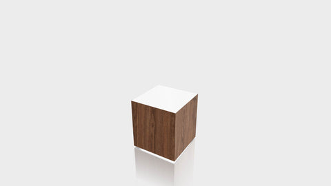 RECTANGLE - Thermo Walnut Base + White Top
