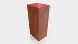 RECTANGLE - Cherry Heartwood Base + Spectrum Red Top