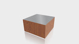 RECTANGLE - Blossom Cherrywood Base + Mouse Grey Top