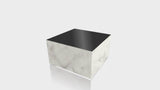 RECTANGLE - Carrara Bianco Base + Black Top