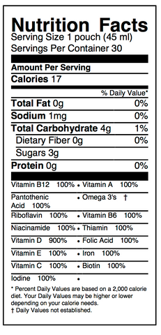 Prosper Nutrition Facts
